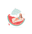 summer time beautiful smiling vector image vector image