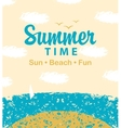 summer time to beach vector image vector image