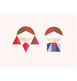 Tangram figures boy and girl on a background vector image vector image