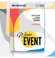 template of poster design layout for vector image vector image