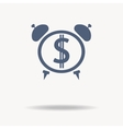 time is money icon Clock icon flat design vector image vector image