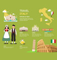 traveling to italy landmarks map vector image