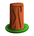 tree stump with grass icon cartoon style vector image