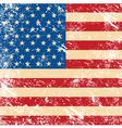 USA vintage grunge flag vector image