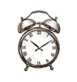 vintage alarm clock time concept sketch vector image