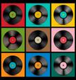 vintage vinyl records vector image vector image