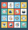 web development flat icons vector image vector image