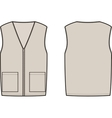 Work winter vest vector image vector image