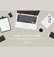workspace in top view business or freelance vector image vector image