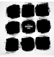 Grunge ink hand-drawn squares vector image