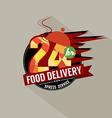 24 Hours Food Delivery Service vector image