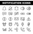 25 notification outline icons base on 64px vector image