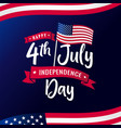 4th july independence day usa calligraphy vector image vector image