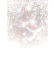 Abstract winter background with transparent balls vector image vector image