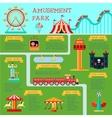 amusement park infographic set vector image