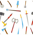 ancient melee cold weapon tool equipment pattern vector image