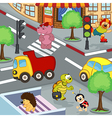 animals at crossroads vector image vector image
