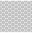 art deco hexagonal seamless vintage wallpaper vector image vector image