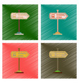 assembly flat shading style icons school stop sign vector image vector image