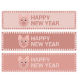 banners with a pig for the new year vector image vector image