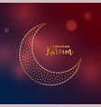 beautiful moon design in golden color vector image vector image