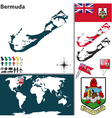 Bermuda map world vector image