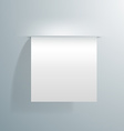 blank white sheet paper sticking out the vector image