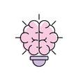 bulb wih brain inside to creative design vector image vector image