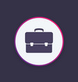 business briefcase bag icon vector image vector image