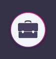 business briefcase bag icon vector image