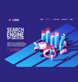 concept with search engine optimisation vector image vector image