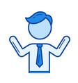 confused businessman line icon vector image