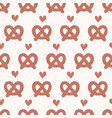 cute german pretzel cartoon with love heart vector image