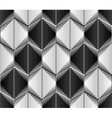 Design seamless monochrome hexagon pattern vector image vector image