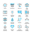 experiential marketing icon collection set vector image vector image