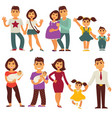 family mother father and children flat vector image vector image