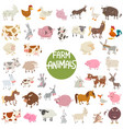 farm animal characters big set vector image vector image