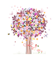 Festive romantic tree vector image