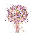 Festive romantic tree vector image vector image