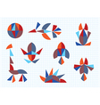 figures of animals and birds on a white background vector image