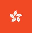 flag hong kong vector image