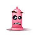 funny cute crazy condom dead vector image