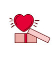 gift box with heart isolated icon vector image vector image