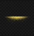 gold glittering trail sparkling stardust abstract vector image vector image