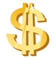 golden dollar symbol wealth and richness icon vector image vector image