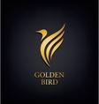 Golden Phoenix bird brand animal logoluxury vector image vector image
