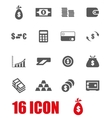 grey money icon set vector image vector image