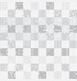 grey retro background with memphis square elements vector image vector image