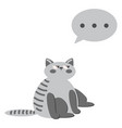 guessing cat sticker isolated cute sticker vector image