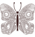 hand draw ornate line artwork of butterfly vector image vector image